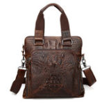New Men Genuine Leather Alligator Business Bag Handbag