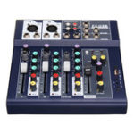 New 4 Channel 48V Bluetooth USB Sound Live Studio Audio Mixer Mixing Console Karaoke