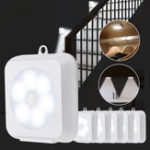 New KCASA 2W LED Cabinet Night Light Wireless PIR Motion Sensor Battery Operated Cupboard Closet Lamp Home Bedroom Kitchen Lighting
