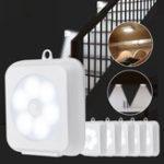 New KCASA 2W LED Cabinet Night Light Wireless PIR Motion Sensor Battery Operated Cupboard Closet Lamp Home Bedroom Kitchen Lighting
