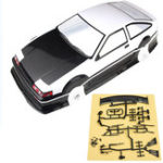 New 1/10 PVC RC Car Shell Painted Body for Toyota AE86 Model Rc Car Wheelbase 256mm w/ Accessories