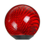 New Universal Car Round Ball Shape Gear Shift Knob Black Red Carbon Fiber
