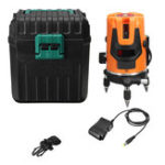 New 100V-240V 5 Line 360° Rotary Laser Level Automatic Self Leveling Meter Measure Tool with Box