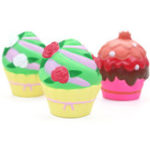 New Cupcake Squishy Muti-color Ice Cream 10.2CM Slow Rising Rebound Toys With Packaging Gift Decor