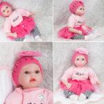 New Silicone 22inch Reborn Baby  Doll Lifelike Baby Newborn Doll Handmade Gift