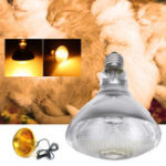 New AC220V 250W Poultry Heat Incubator Lamp Infrared Pet Bulb Warm Light + Lampshade for Animals