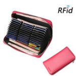New RFID Women Genuine Leather 36 Card Slot Phone Purse Wallet