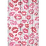 New 4x6FT Vinyl Pink Red Lips Wall Floor Photography Backdrop Background Studio Prop