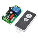 New 433MHz AC220V 1 Channel Wireless Remote Control Switch Module Learning Code 1CH Relay Module with Waterproof 2 Key Transmitter