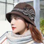 New Middle-Aged Outdoor Sun Protection Wide Brimmed Bucket Hat