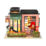 New Hoomeda C008 DIY Doll House Century Bookstore With Cover Music Movement Gift Decor Collection Toys