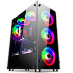 New Coolmoon 397*197*423mm Transparent Side Panel ATX Desktop PC Computer Case