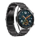 New Bakeey 22mm Three Beads Solid Stainless Steel Watch Band for Huawei GT Smart Watch