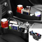 New Carbon Fiber Plastic Car Seat Crevice Storage Organizer Caddy Catcher Box Seat Slit Pocket