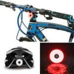 New BIKIGHT COB LED Cycling Rear Warning Light 5 Modes USB Rechargeable Waterproof Bike Tail Light