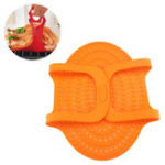New Large Silicone BBQ Mat Heat Resistant Non-Stick Oven Barbeque Meat Pad Turkey Poultry Lifter