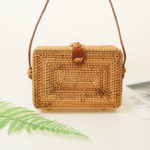 New Women Rattan Bohemian Style Crossbody Bag