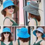 New Women Polyester Double-Sided Wear Bucket Cap