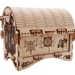 New Puzzle Education Retro Treasure Box Creative Ornaments 40Pcs Assembly Relaxing Handmade Treasure Chest Home Decorations