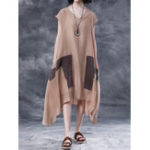 New Sleeveless Kaftan Irregular Dress