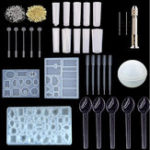 New 78Pcs/Set Resin Casting Mold Kit Silicone Mould Making Jewelry Pendant Mould Craft DIY Set