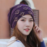 New Women Vintage Polyester Breathable Beanie Cap