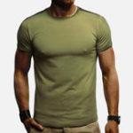 New Mens Summer Casual Solid Color T-shirts Short Sleeve Tops