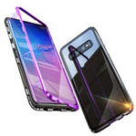 New Bakeey Magnetic Adsorption Protective Case For Samsung Galaxy S10e/S10/S10 Plus Aluminum Alloy Bumper Tempered Glass Cover