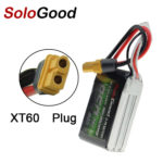New SoloGood 11.1V 850mAh 75C 3S XT60 Plug Lipo Battery for Rc Racing Car Model Parts