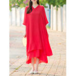 New Chinese Style Solid Dress