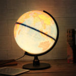 New Universal LED World Globe Rotating Swivel Map Of Earth Atlas Geography