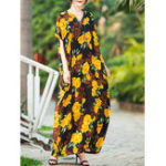 New Baggy Floral Maxi Dress