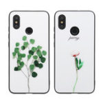 New Bakeey Creative Illustration Pattern Tempered Glass&Soft Silicone Protective Case For Xiaomi Mi 8