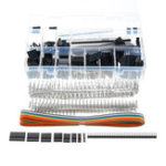 New 635Pcs Dupont Connector Housing Male/Female Pin Connector 40 Pin 2.54mm Pitch Pin Headers and 10 Wire Rainbow Color Flat Ribbon IDC Wire Cable Assortment Kit