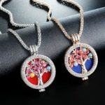 New Trendy Rhinestone Fragrance Necklace