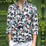 New Men Floral Printed Half Sleeve Half Open Hawaiian Shirts