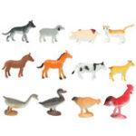 New 12 Plastic Farm Yard Figure Pig Cow Horse Dog Animal Diecast Model Kids Playset Toy