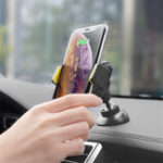 New HOCO Strong Adhesive Extendable Clip 360 Degree Rotation Car Holder Mount for Mobile Phone 4.7-6.5″