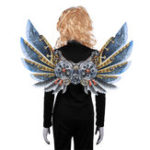New Mardi Gras Steampunk Gear Wings Cosplay Carnival Party Unisex Costume Wing Props