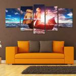 New 5PCS Uframed Sunset Modern Art Canvas Oil Paintings Pictures Print Home Wall Decor