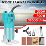 New 220V 800W 35000RPM Electric Hand Trimmer Wood Laminator Router Joiners Tool