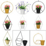 New Flower Iron Metal Rack Stand Hang Vase Succulent Plant Shelf Lab Pot Decor