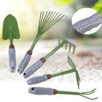 New Gardening Digging Tools Kit Edging Iron Border Fork Shovel Trowel Rake Hoe Pointed