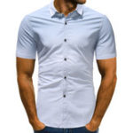 New Men's Gradual Change Short Sleeve Casual Shirts