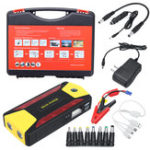 New 89800mAh 4 USB Car Jump Starter Portable Charger Battery Power Bank Kit