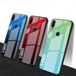 New Bakeey™ Gradient Color Tempered Glass + Soft TPU Back Cover Protective Case for Xiaomi Redmi Note 7