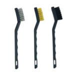 New 3Pcs Anti-static Metal Rust Clean Tools Mini Wire Brush Set Steel Brass Nylon Brush Cleaning Polishing Detail Home Kitchen Kit