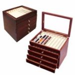 New 5 Layers Luxury Wooden Box Fountain Pen Large-capacity Storage Case
