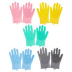 New Silicone Multi-function Kitchen Cleaning Magic Glove Dishwashing Brush