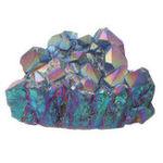 New Purple Rainbow Aura Quartz Natural Point Cluster Gemstone Crystal Home Decorations